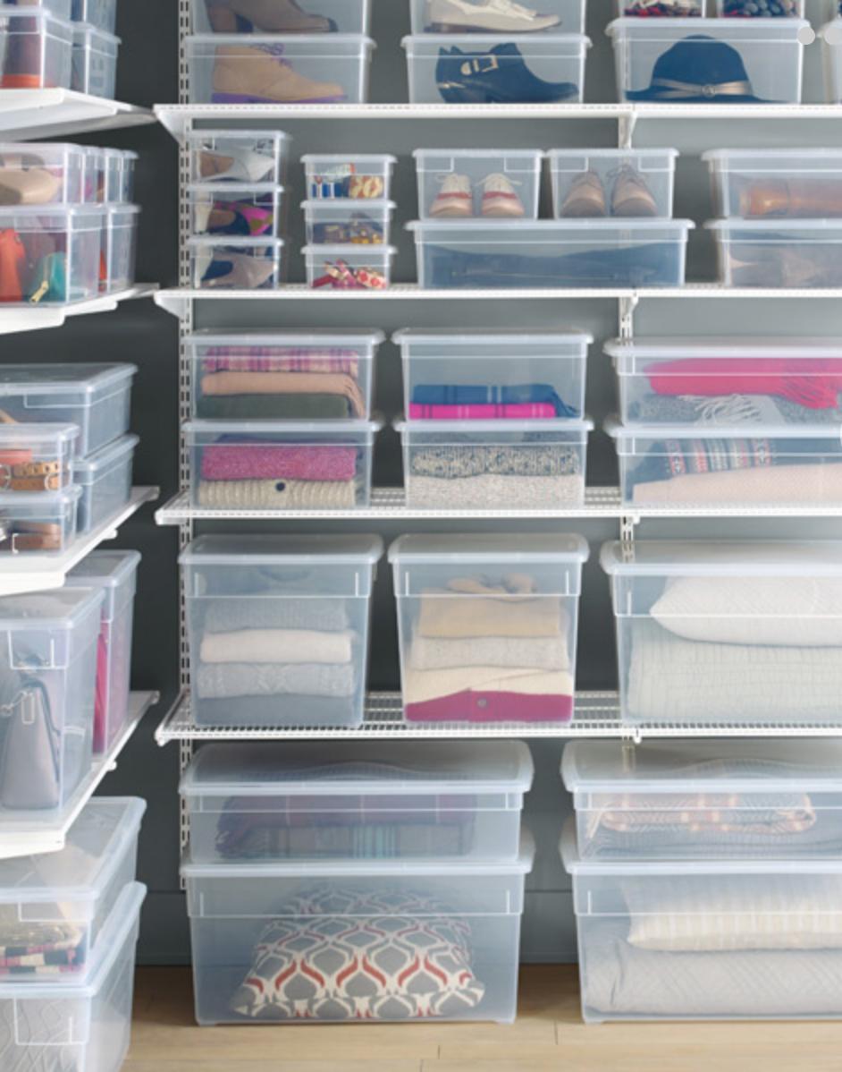 Cajas almacenaje ropa gallery of comprar caja almacenaje for Cajas de plastico para guardar ropa