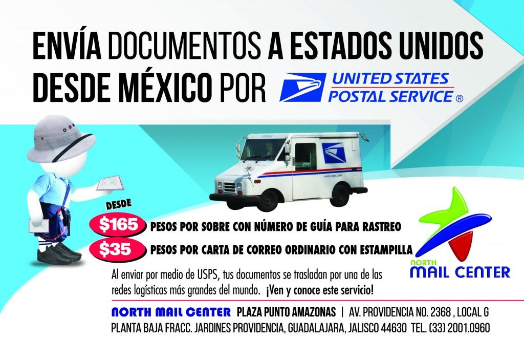 Envía tus documentos a Estados Unidos por USPS